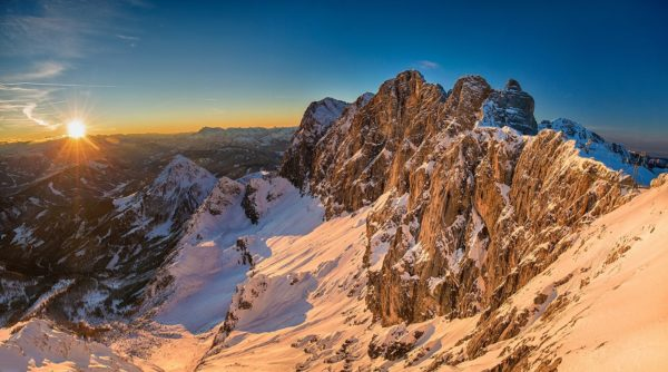 zonsopkomst in de alpen fotografiereis Alpenvogels