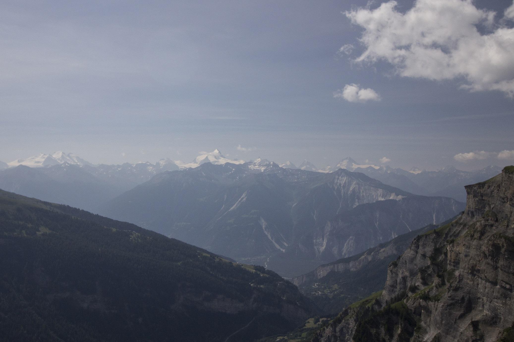 Uitzicht Wallis, Zwitserland