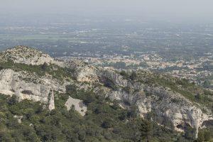 Uitzicht op St'Remy de Provence