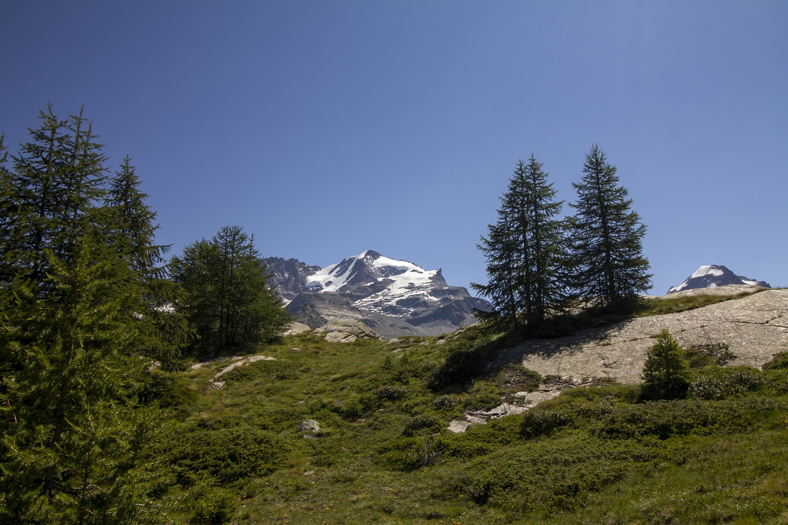 Uitzicht valley d'Aosta
