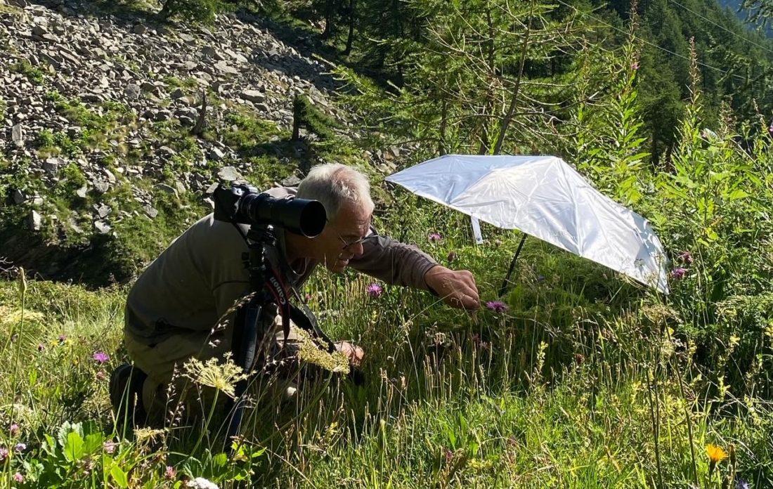 Jan Huijbers in de Aosta vallei