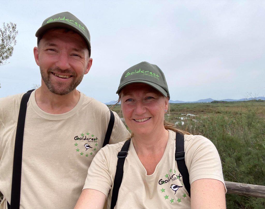 Chris en Annemieke gidsen Goldcrest Nature Tours