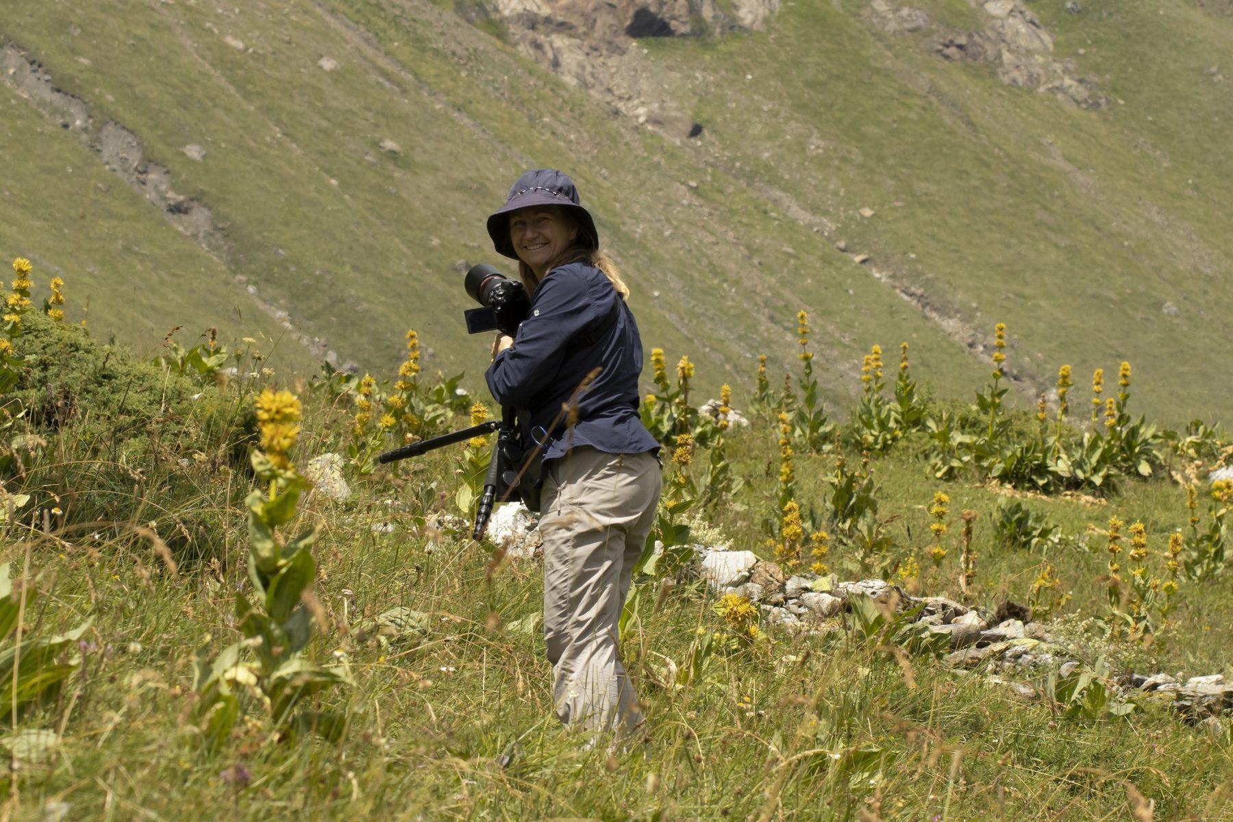 Annemieke Spoelman natuurgids en reisbegeleider bij Goldcrest Nature Tours