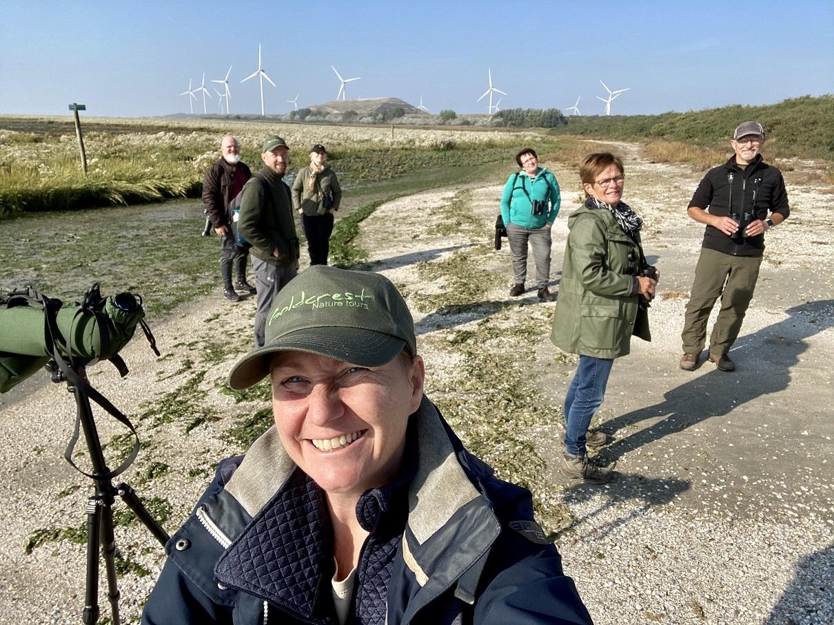 Groep excursie natuur op Voorne Putten