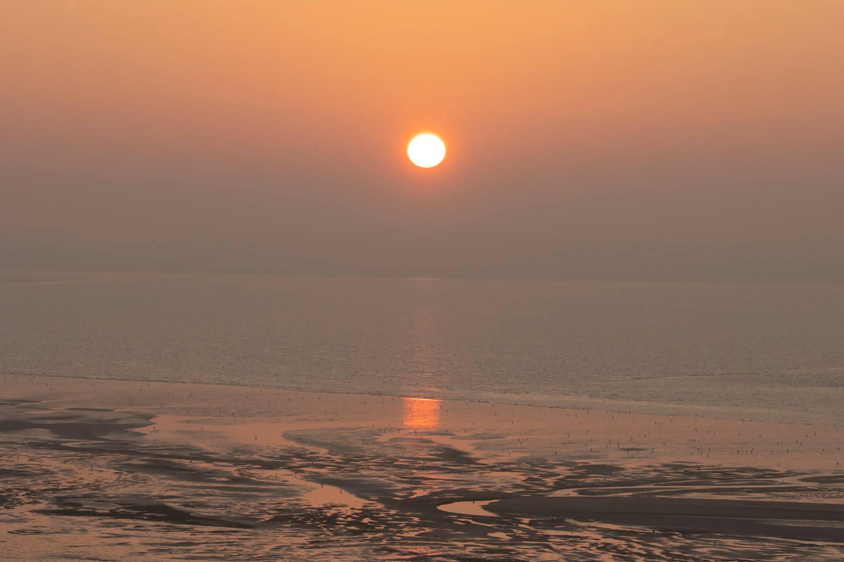 zonsopkomst boven de Westplaat